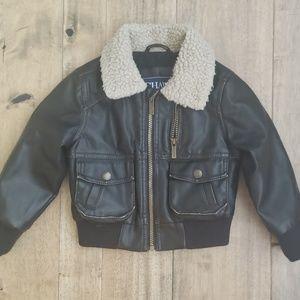 Boys 3T Aviator / Bomber Jacket (Faux leather)